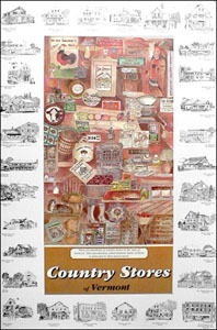 Country Stores of Vermont Poster